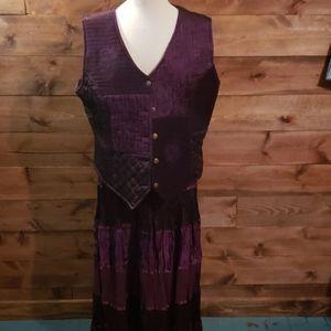White Stag Full length skirt (M) and vest (XL)